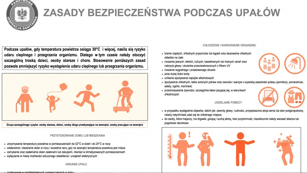 "05211ab0222da Opracowano przez Główny Inspektorat Sanitarny na podstawie  ""Public health  advice on preventing health impacts of heat. A set of information sheets  for ..."